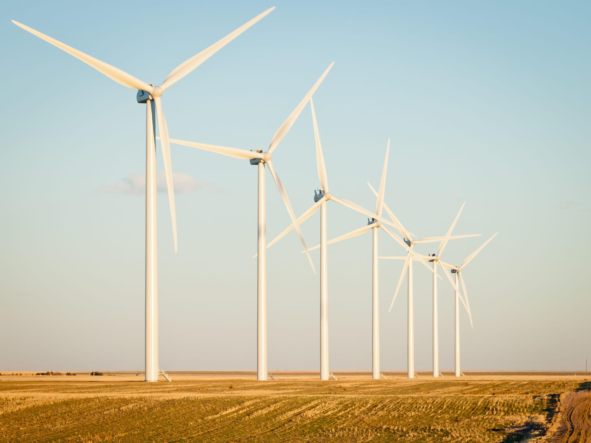 Montagem de torres eólicas