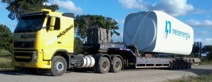 Transportes de cargas super pesadas