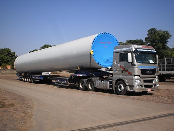 Transporte de torres eólicas